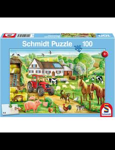 Schmidt Vrolijk boerenerf, 100 stukjes