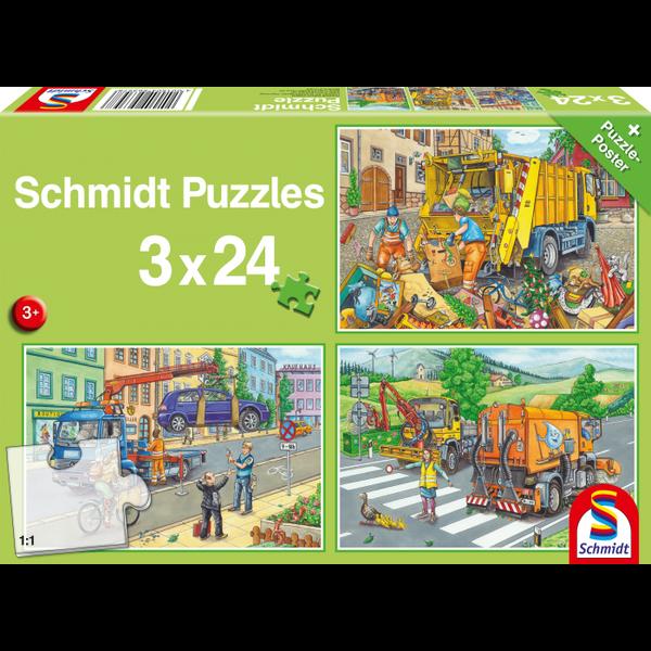 Schmidt Gemeente voertuigen 3x24 stukjes