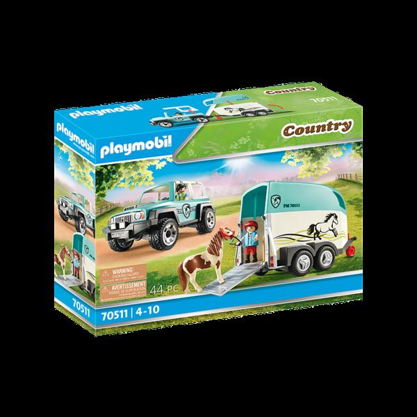Playmobil 70511 - Auto met aanhanger