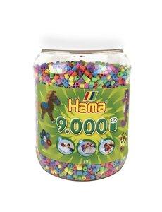 Hama Strijkkralen in pot, pastel - 9000 stuks
