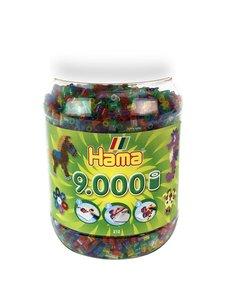 Hama Strijkkralen in pot, glitter - 9000 st.