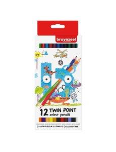 Bruynzeel 12 Twin point kleurpotloden