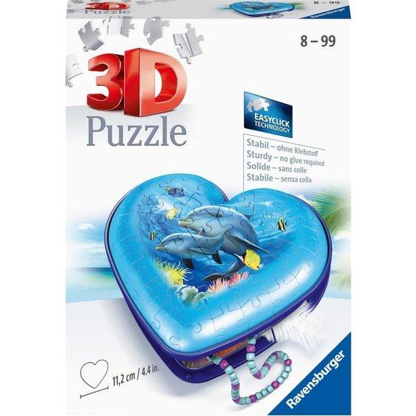 Ravensburger 3D - Hartendoosje onderwaterwereld - 54 stukjes