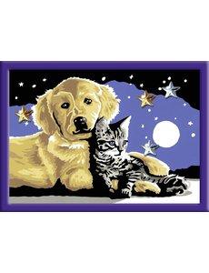 Ravensburger Schilderen op nummer - Hond en kat