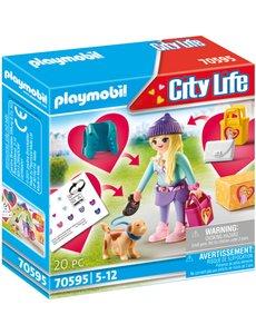Playmobil 70595 - Modemeisje met hond