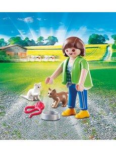 Playmobil 70562 - Vrouw met kittens