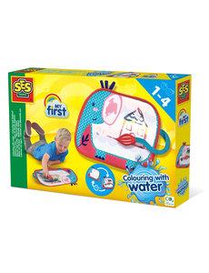 SES My First kleuren met water: Kleurmat Olifant