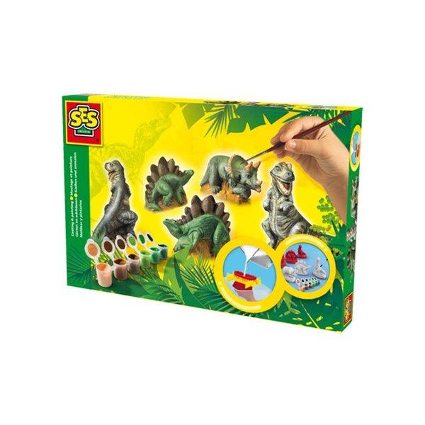 SES Gips gieten - Dinosaurus