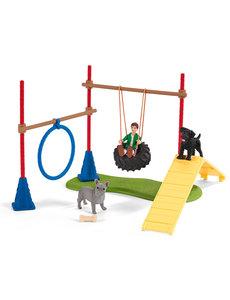 Schleich 42536 - Speelplezier voor honden