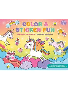 Deltas Color & Stickerfun - Magische eenhoorns