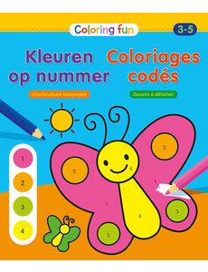 Deltas Coloring Fun - kleuren op nummer (3-5 jr)