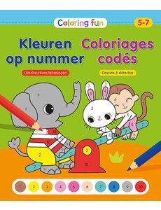 Deltas Coloring fun - Kleuren op nummer (5-7 jr)