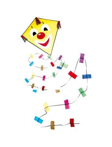 Rhombus Vlieger clown