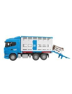 Bruder 3549 - Scania R vrachtwagen voor veetransport met 1 koe