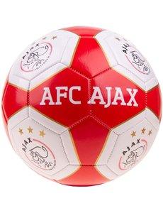 Bal Ajax groot rood/wit vlakken