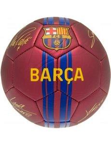 Bal FC Barcelona rood metallic met handtekening