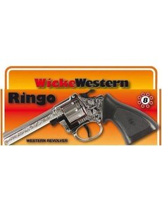 JohnToy Klappertjes pistool Ringo 8 schots, chroom