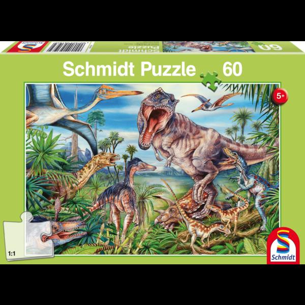 Schmidt Bij de dino's, 60 stukjes