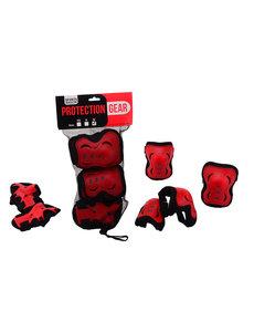 JohnToy Beschermset rood/zwart XS, S, M
