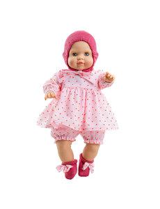 Paola Reina Manus Zoe met roze kleding en zacht lijfje 36 cm