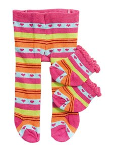 Heless Maillot en sokken gekleurd assorti