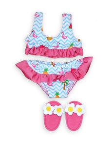 Heless Bikini en slippers Flamingo