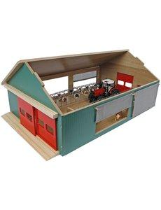 Kids Globe Stal met windbreekgaas 64x44x27 cm