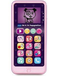 Vtech Bel & Tel Puppy telefoon roze: 18+ mnd