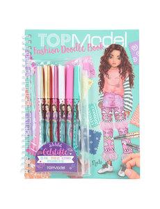 Depesche-TopModel Fashion Doodle book met gelpennen