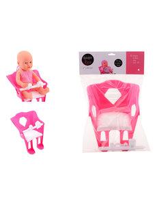 JohnToy Baby Rose poppen fietsstoel