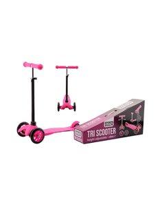 JohnToy City tri-scooter roze