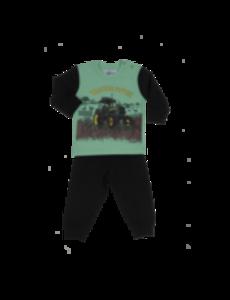 Pyjama groen/zwart