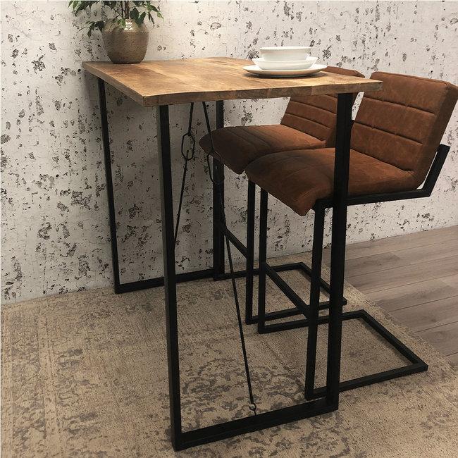 Dimehouse Vegas Table De Bar 130 x 70 x 115 cm Industriel - Bois Massif