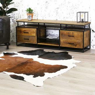 Dimehouse Austin Meuble TV 160 x 40 x 57 cm Industriel - Bois Massif