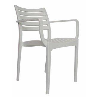 Dimehouse Breaz Chaise De Jardin Blanc Moderne - Plastique