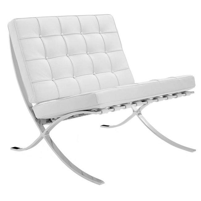 Dimehouse Expo Fauteuil Blanc Design - Cuir