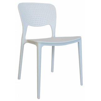 Dimehouse Nino Chaise De Jardin Blanc Moderne - Plastique