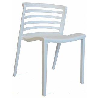 Dimehouse Norrie Chaise De Jardin Blanc Moderne - Plastique