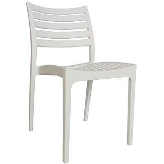 Dimehouse Senna Chaise De Jardin Blanc Moderne - Plastique