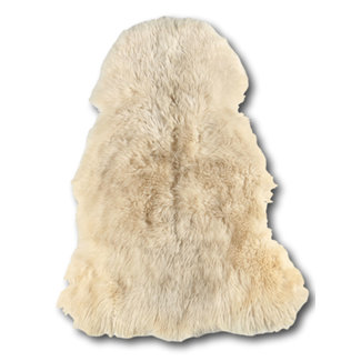 Dimehouse Peau De Mouton Blanc 100 x 70 cm Poil Ras