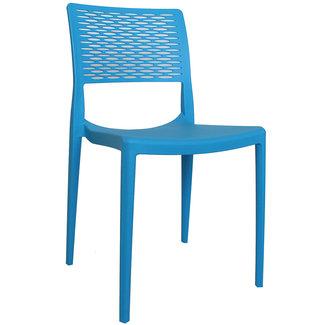 Dimehouse Evora Chaise De Jardin Bleu Moderne - Plastique
