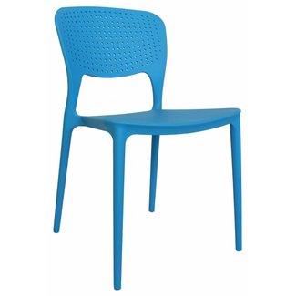 Dimehouse Nino Chaise De Jardin Bleu Moderne - Plastique