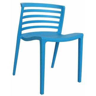 Dimehouse Norrie Chaise De Jardin Bleu Moderne - Plastique