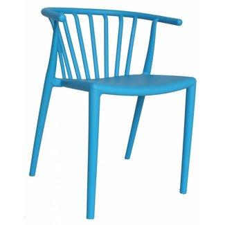 Dimehouse Nour Chaise De Jardin Bleu Moderne - Plastique