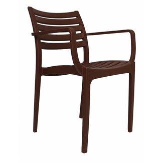 Dimehouse Breaz Chaise De Jardin Brun Moderne - Plastique