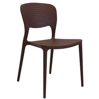 Dimehouse Nino Chaise De Jardin Brun Moderne - Plastique
