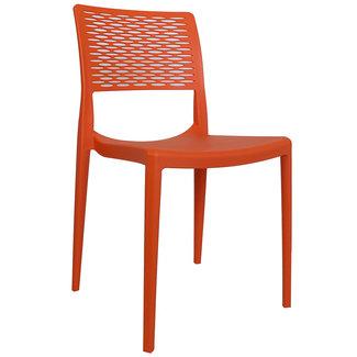 Dimehouse Evora Chaise De Jardin Orange Moderne - Plastique