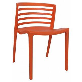 Dimehouse Norrie Chaise De Jardin Orange Moderne - Plastique