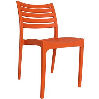 Dimehouse Senna Chaise De Jardin Orange Moderne - Plastique