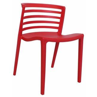 Dimehouse Norrie Chaise De Jardin Rouge Moderne - Plastique